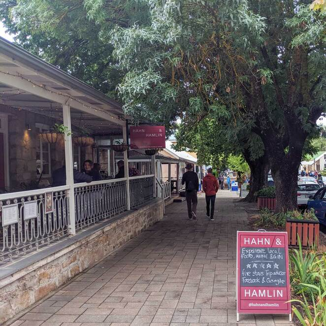 hahndorf, food, wine, south australia, lunch, dinner, main street