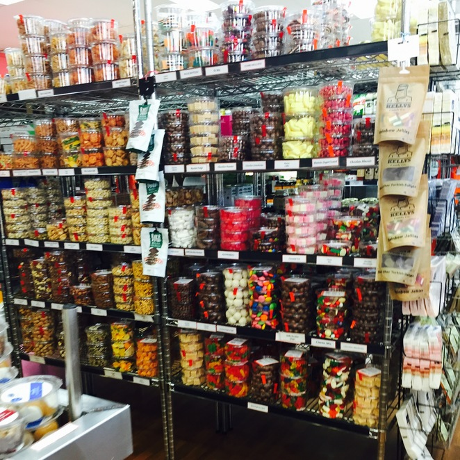 Huge range of lollies, chocolates and nuts