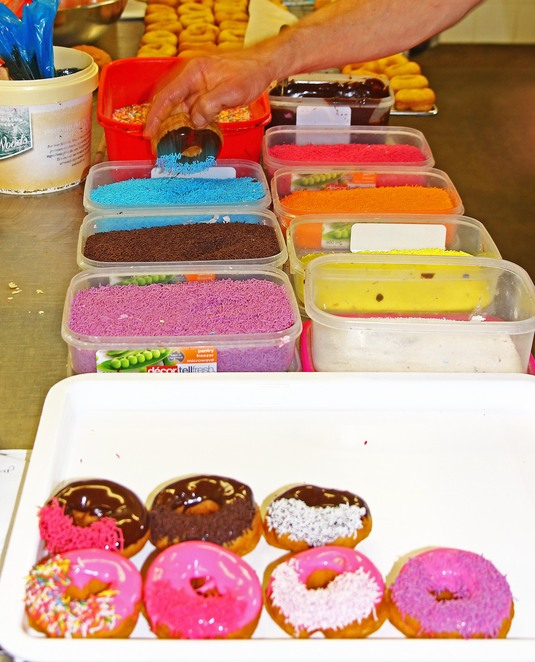 iced donuts