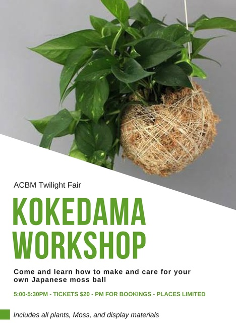 Kokedama workshop perth, Kokedama, perth markets, markets