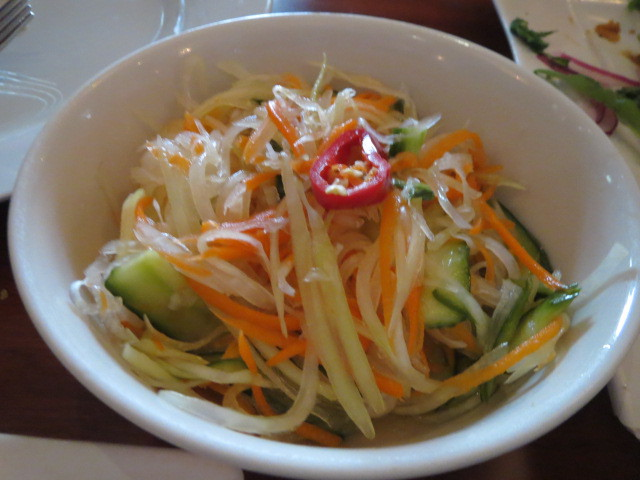 Mangosteen Restaurant, Green Papaya Salad, Adelaide