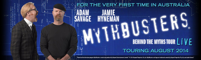 Mythbusters - Behind the Myths tour Australia, TV, Live show, adam and jaime
