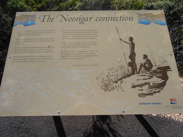 Signs along the the Pupalong Walk explain the connection of the Noongar people to the area.