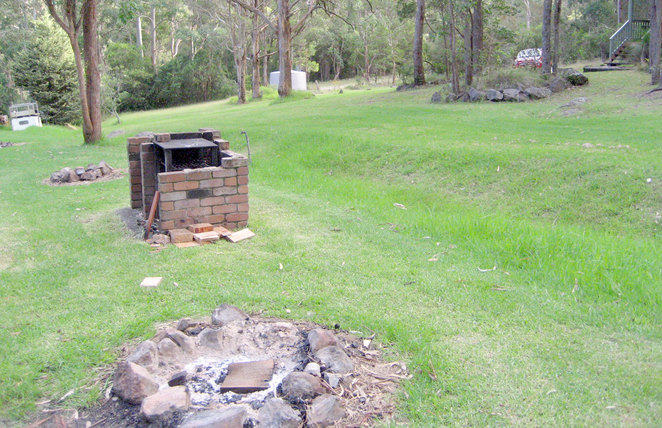 Fire pits and wood fired barbecues at Queen Mary Falls Caravan and Tourist Park