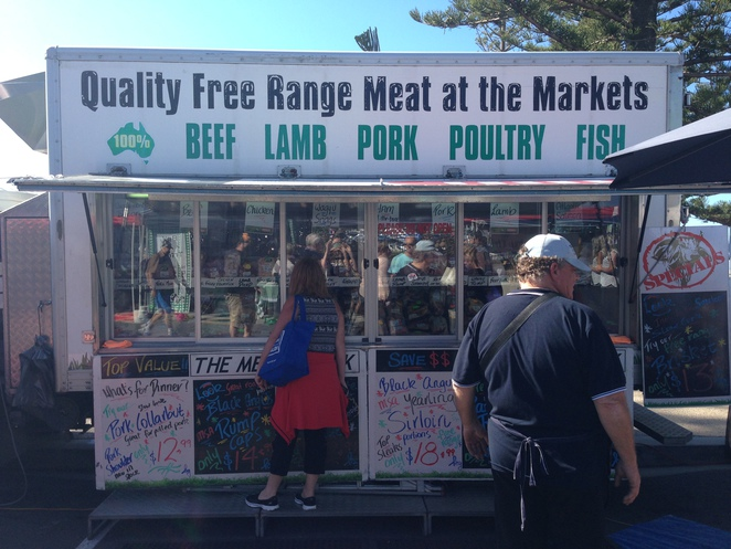 Meat truck at Redcliffe Markets