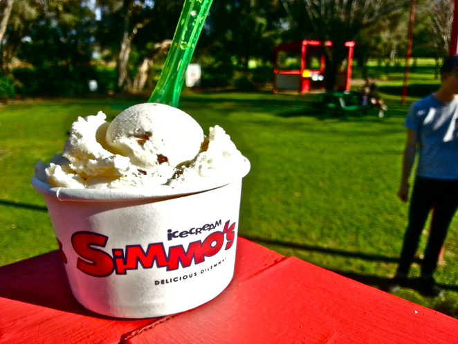 Simmo's, ice cream, Dunsborough, gourmet, sorbet, Margaret River, homemade, free trade, organic, family, kids