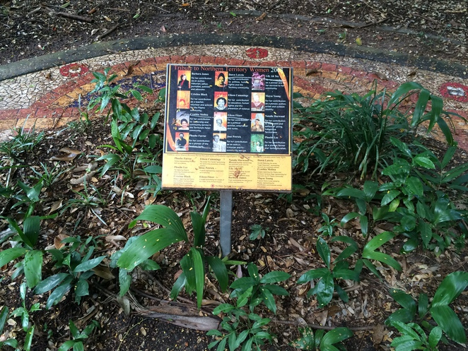 Small gardens commemorating NT women