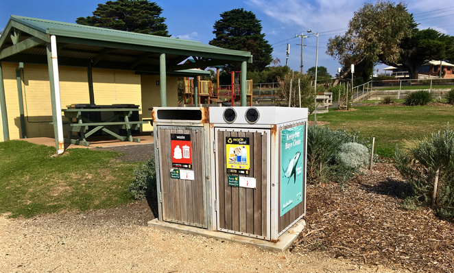 Taylor Reserve, Indented Head, Ozone, Shipwreck, camping, picnic spots, bellarine, geelong, playground, beach, picnic hut, seaside, overlooking the ocean, australia, geelong, rubbish bin in australia, geelong,