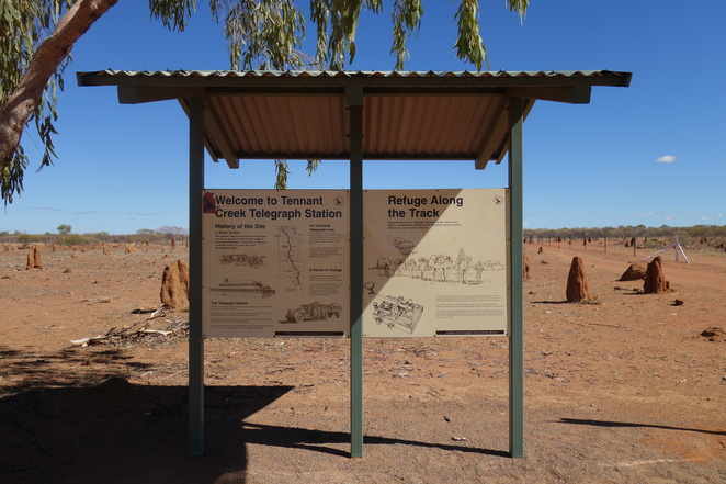 tennant,creek,telegraph,station,history,old,sign,northern,territory