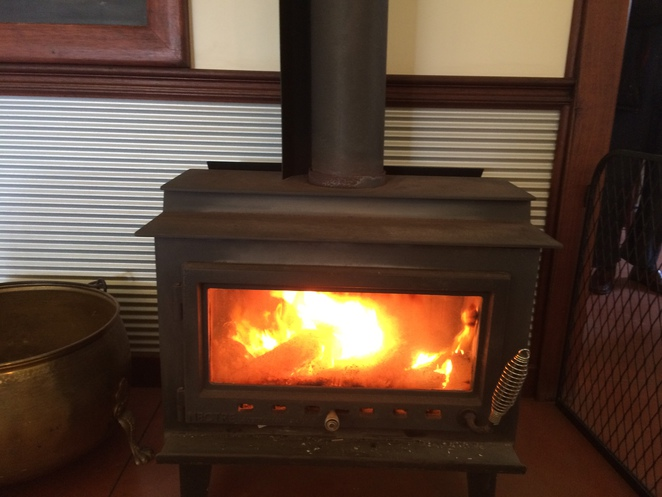 The welcoming presence of a combustion heater