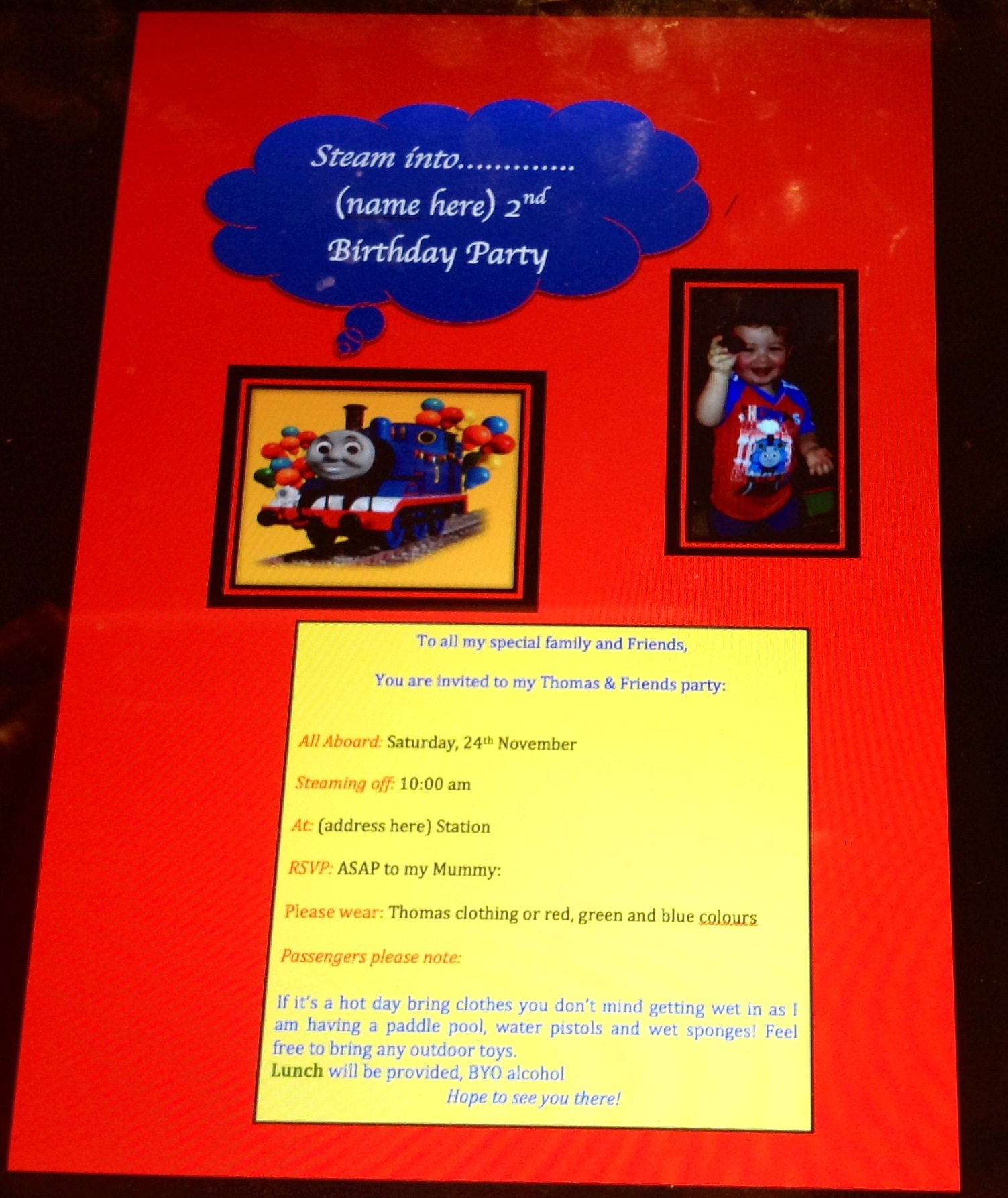 Diy thomas the tank engine party everywhere large image solutioingenieria Image collections