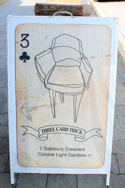 three card trick, adelaide, colonel light gardens, retro, displays, ericophones, brunch