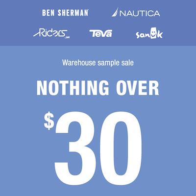 Riders by Lee, Nautica and Ben Sherman Warehouse Sample Sale - Sydney