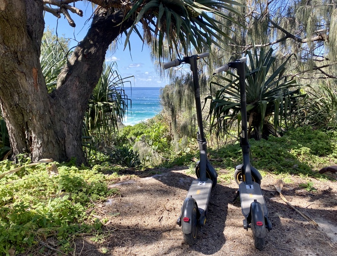 Yura Banji's electric scooters - the coolest new way to explore Straddie!