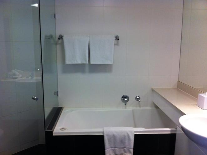 bathroom, sink, bath, shower, ensuite, hotel, apartment, self contained