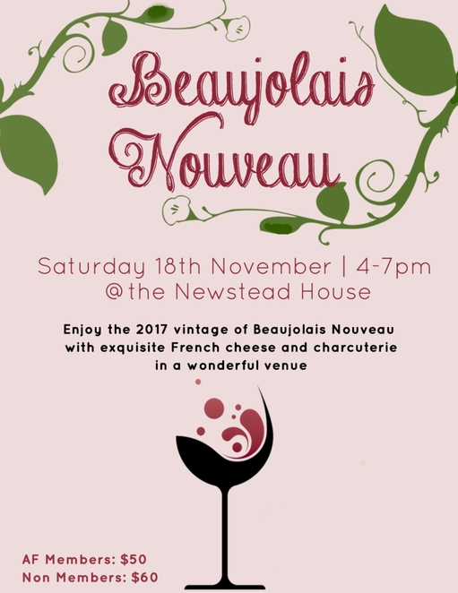 Beaujolais Nouveau, 2017, Newstead House, wine, cheese, celebration, French,