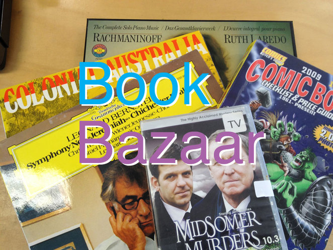 Book Bazaar Extended Hours Half Price March Sale