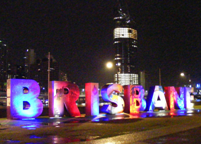 The Brisbane Sign in French Colours for Le Festival