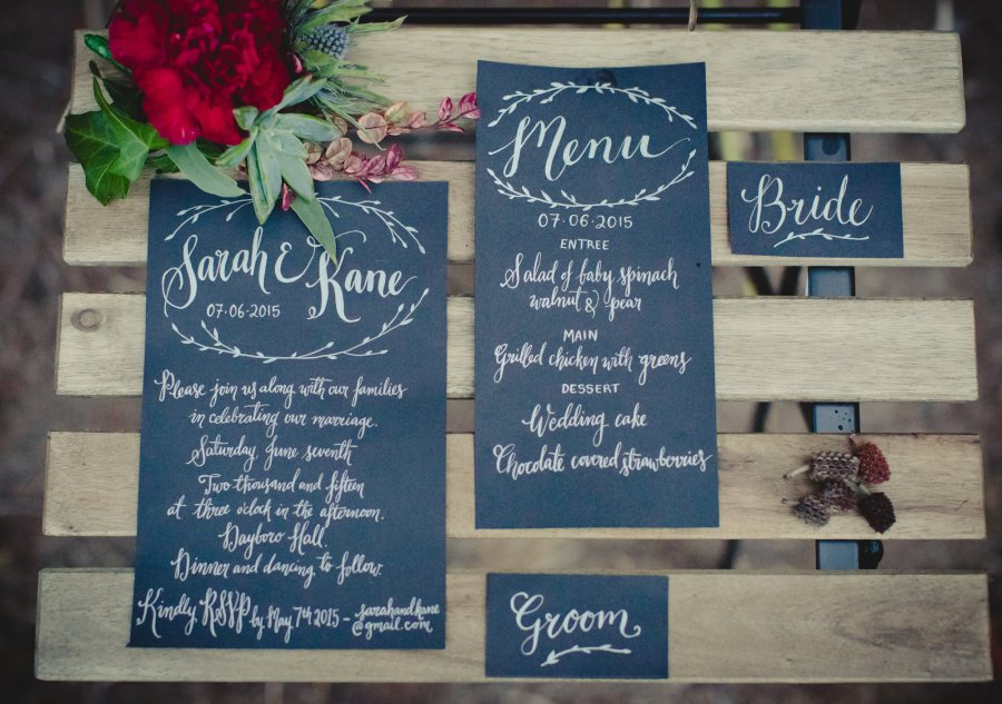 Modern Calligraphy With Floral Lovely Brisbane