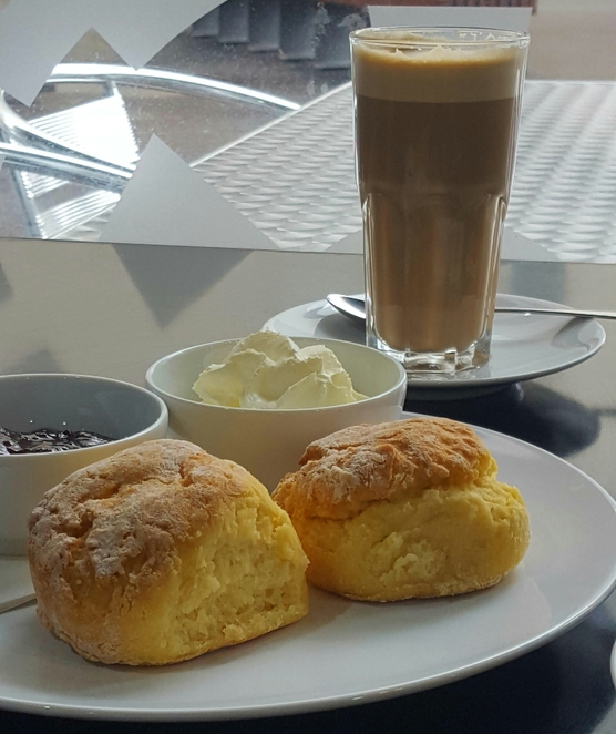 Cafe, scones, coffee, relaxed