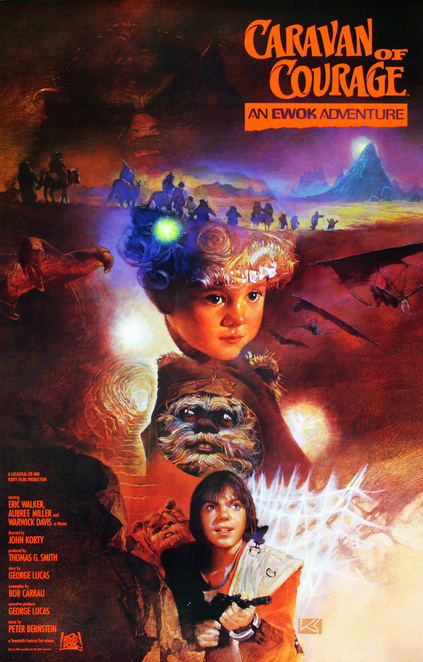 Caravan of Courage, Ewok, Adventure, Wistie, Fire, Fairy, Star Wars, Made for TV, Movie, Television, Spin-off, Caravan, Courage, Endor, Gorax