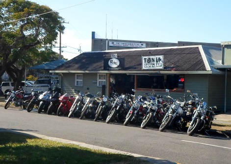 chuckle head comedy, ton up cafe and bar, rocker classic motorcycles shop
