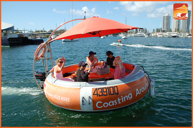 Coasting Around Boat Hire, bbq lunch cruise, morning tea cruise, cocktail party on the water, summer fun boat cruising, gold coast, marina cove, seaworld drive, self-drive boat hire, private boat hire, donut boat