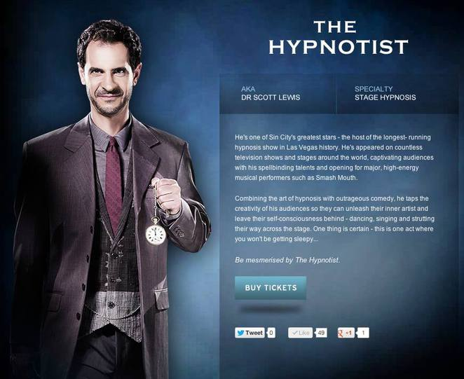 Dr Scott Lewis The Illusionists The Hypnotist