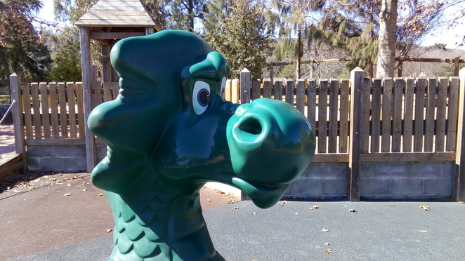 dragon, playground, tim neville arboretum, ferntree gully, fairy tale