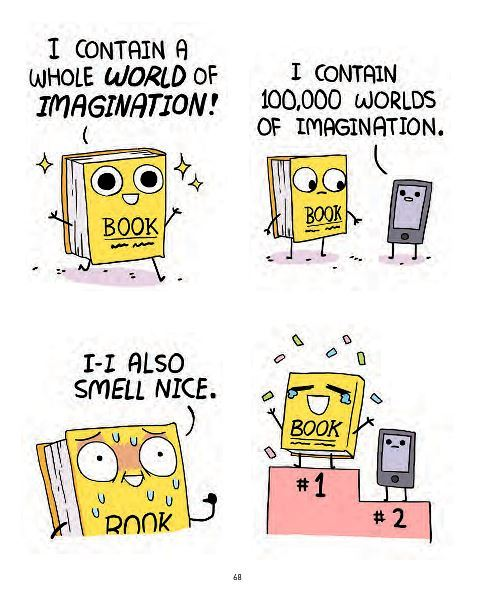 emotions explained with buff dudes, books, comics, love books