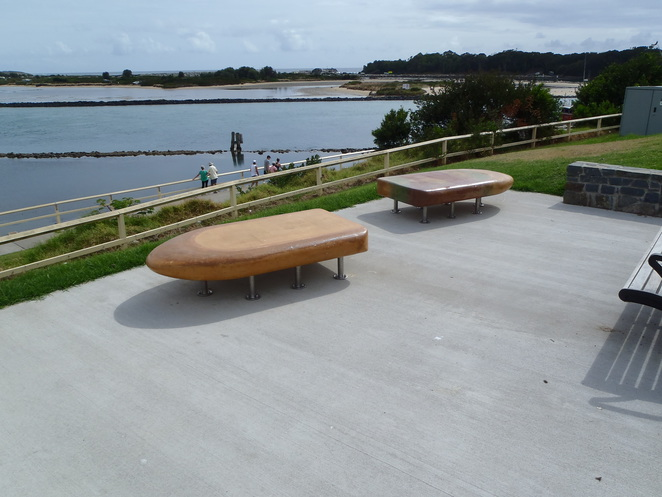 Fibreglass paddle pop park benches
