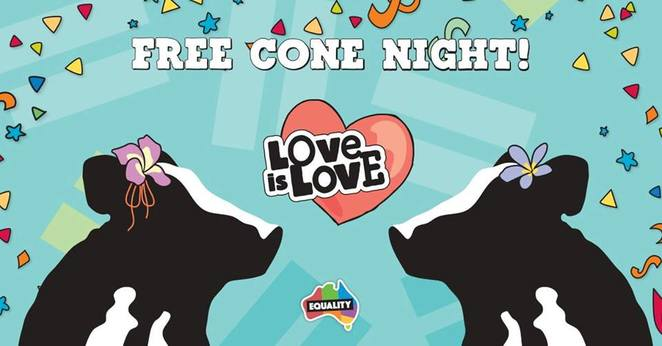 free cone ben and jerrys