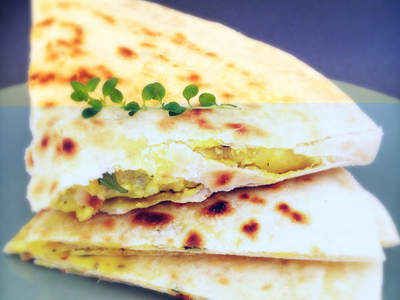 Stuffed parathas at Hari's Vegetarian Restaurant in Ultimo. This image is from the Hari's Vegetarian Restaurant website.