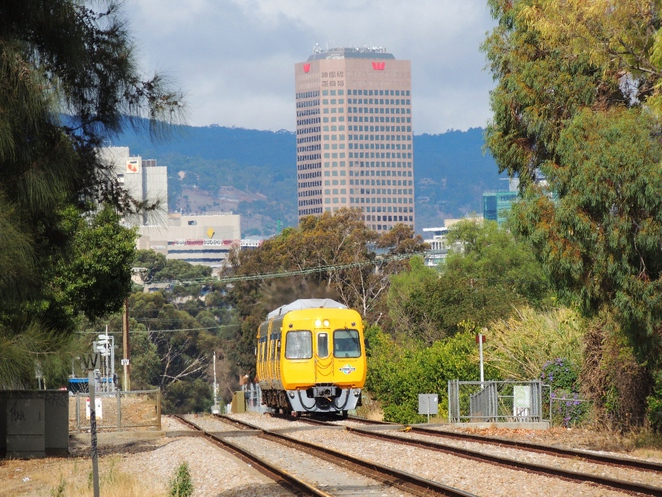 in adelaide, walking trail, bowden, brompton, bowden urban village, gasworks, clipsal industries, pug holes, train