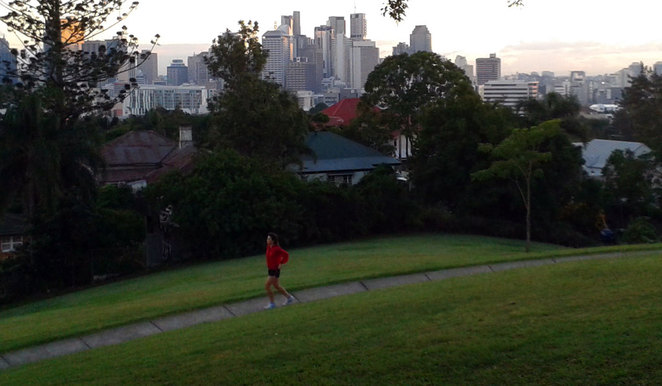Jogger at Highgate Hill Park