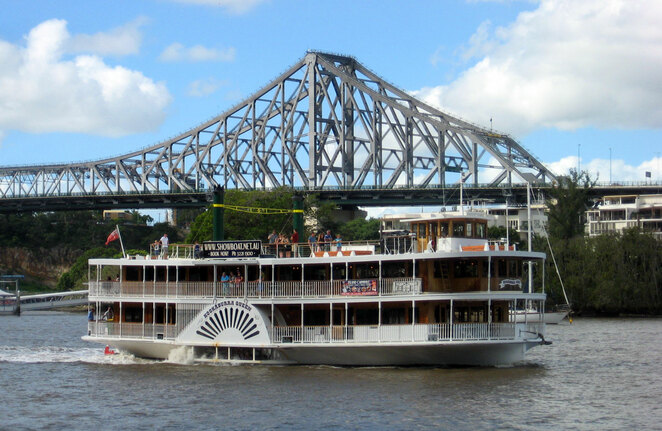 The must do tour in Brisbane is to take a Kookaburra Queen river cruise