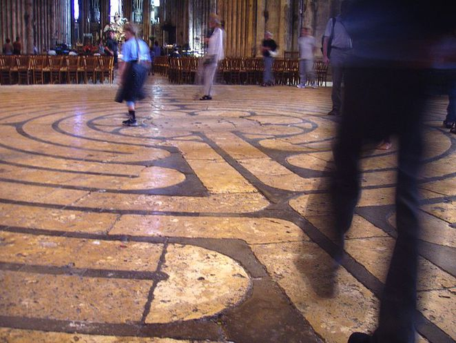 labyrinth, Chartres Cathedral, France