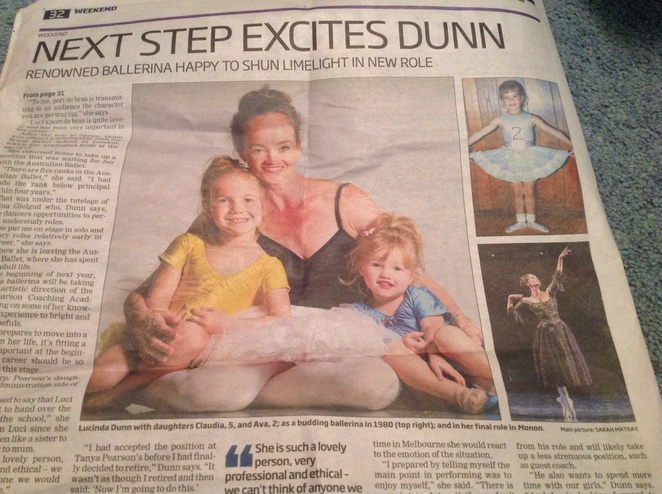Lucinda Dunn with daughters Claudia and Emma