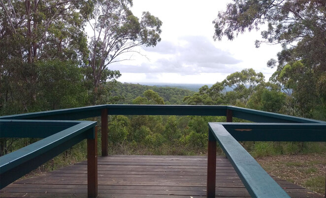 McAfees lookout can also be reached via forest and fire trails