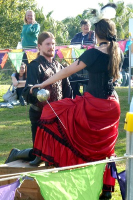 Colourful costumes at the Medieval Fayre, Blacktown