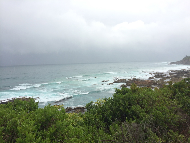 narooma, headland, ocean, nsw, south, eurobodalla, coast, overcast, rain, storm, roadtrip