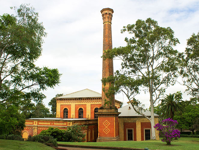 Old pump house at the walka water works