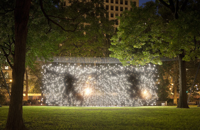 Scattered Light by Jim Campbell. Image is from the Perth International Arts Festival website.