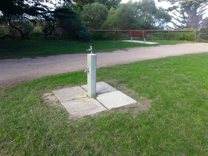 Princess Park, Queenscliffe, Bellarine, Parks, Picnic Spots, Playgrounds, near Geelong, grass, water bubbler, drinking fountain, tap, water tap, public water tap,