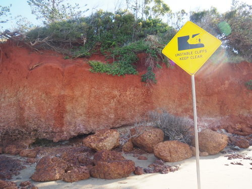 red cliffs, scarborough, photography