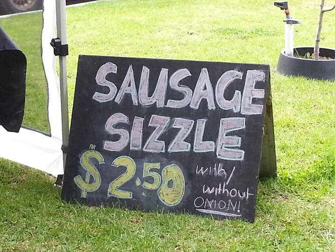 Sausage Sizzle Sign