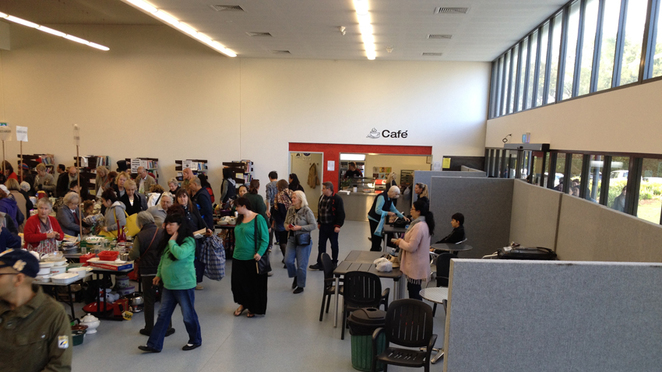 Scroungers Massive March Garage Sale 2017 inside showing cafe