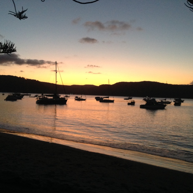 Sunset over Pittwater Palm beach