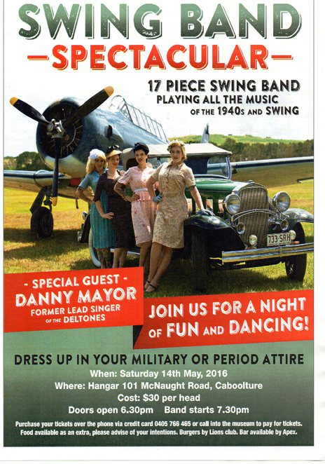 Swing Band Spectacular, Caboolture, Warplanes Museum, delltones