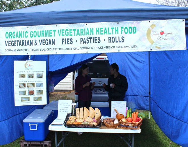 The Organic Kitchen, Caulfield Farmers Markets, vegan food, vegetarian food, farmers markets, caulfield